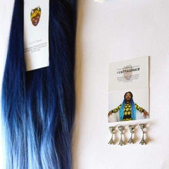 CATFACE HAIR - HAIR BLACK BLUES GODDESS OMBRE JUMBO BRAIDING HAIR