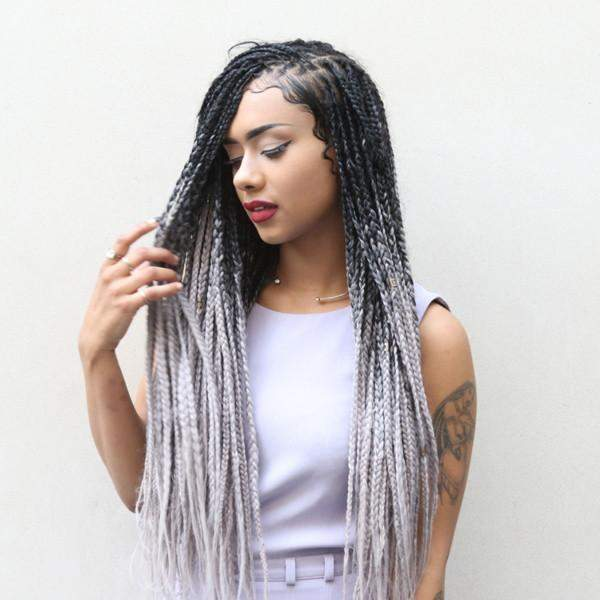 Ombre Braiding Hair Extensions Two Tone Catface Hair
