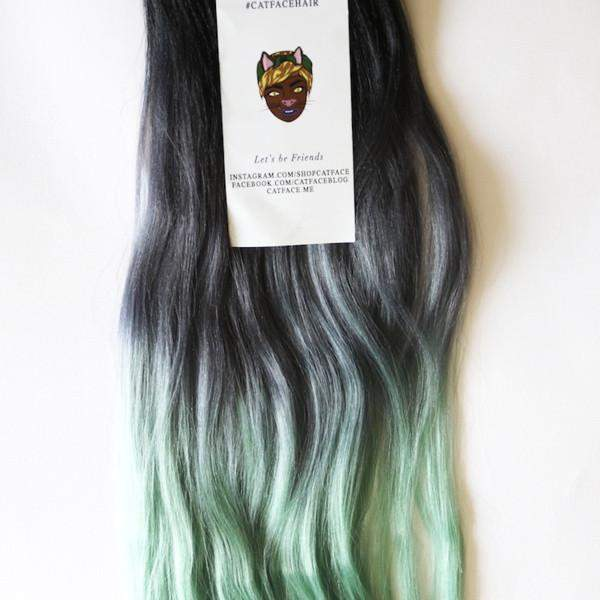 CATFACE HAIR DARK MINT TEA OMBRE JUMBO BRAIDING HAIR