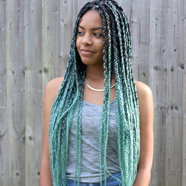 new hair style trends braid ombre technique catface hair mint green ombre jumbo 8187