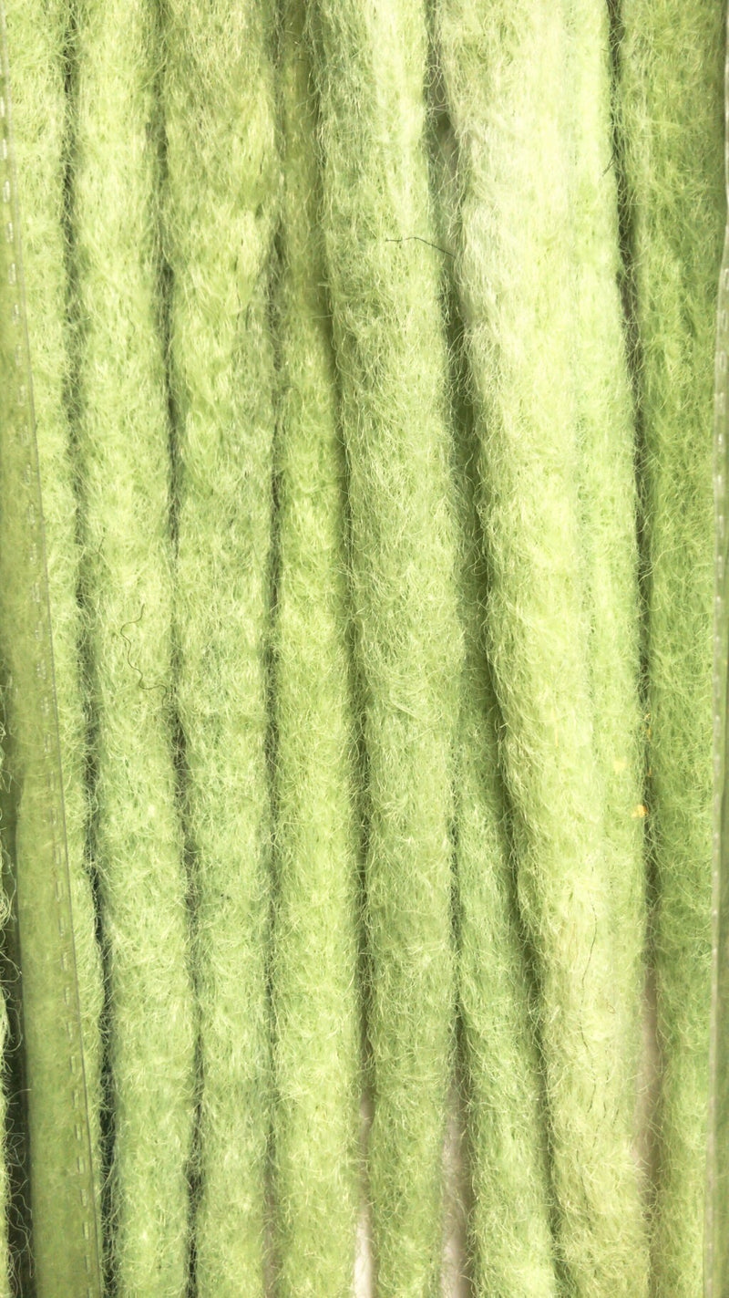 BLACK NEON LIME GREEN OMBRE LARGE ROUGH FAUX LOCS  CROCHET BRAIDS 24 INCHES CATFACE HAIR
