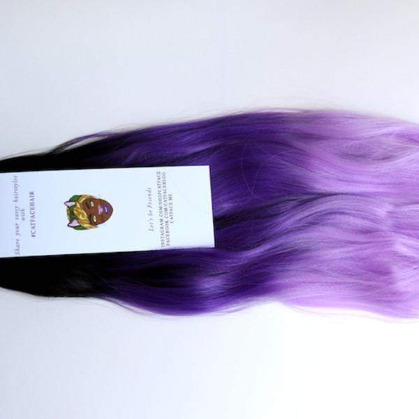 CATFACE HAIR BLACK OCEAN PURPLES OMBRE JUMBO BRAIDING HAIR