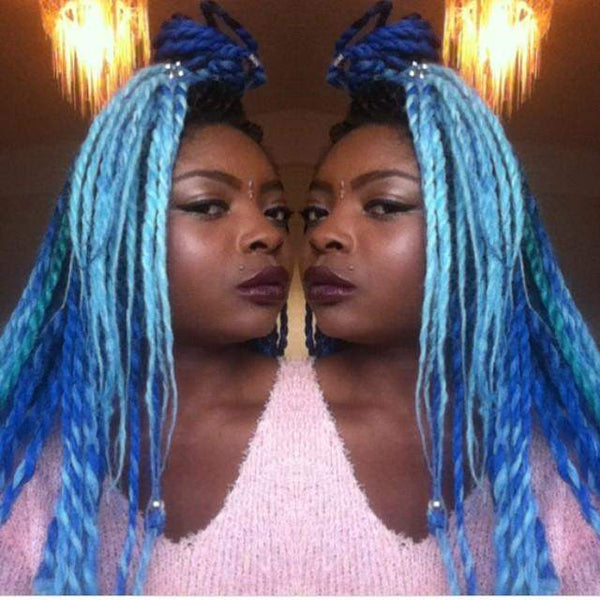 CATFACE HAIR BLACK OCEAN BLUES OMBRE JUMBO BRAIDING HAIR