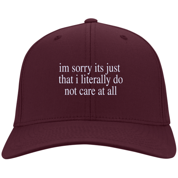 Literally Do Not Care Hat