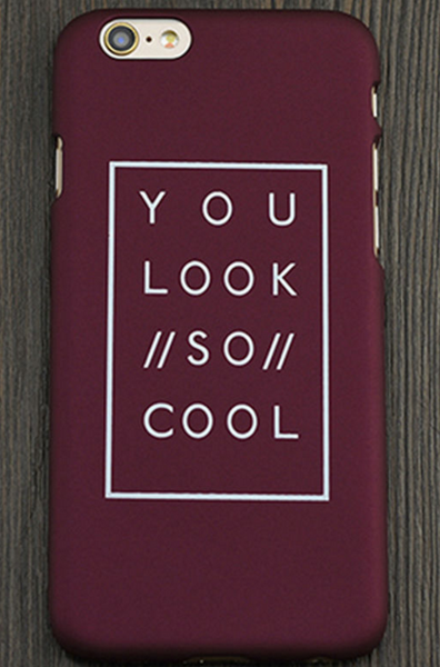 You Look So Cool iPhone Case