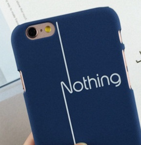 Minimalist Style Nothing iPhone Case