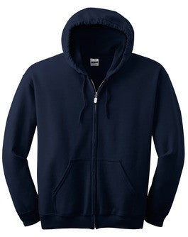 Maeser Navy Hoodie with Full Zipper