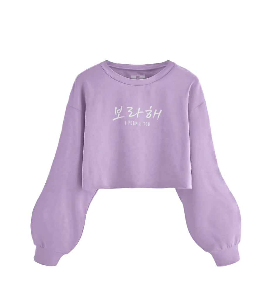 Half Oversized T-Shirt Manga Longa I Purple You