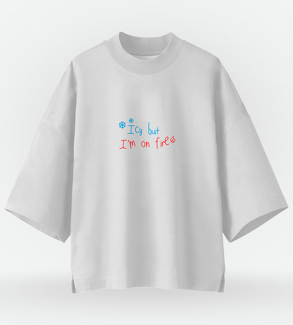Half Oversized T-Shirt ITZY Icy