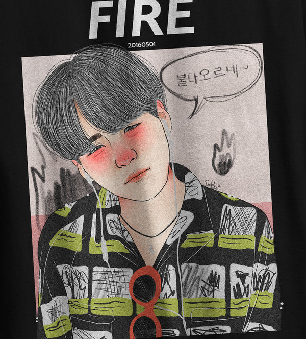 T-Shirt Square TBT Suga on Fire