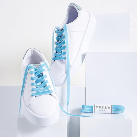 Velvet Shoelace - Powder Blue