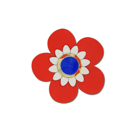 Flower Sticker - Powder Blue Vegan Leather