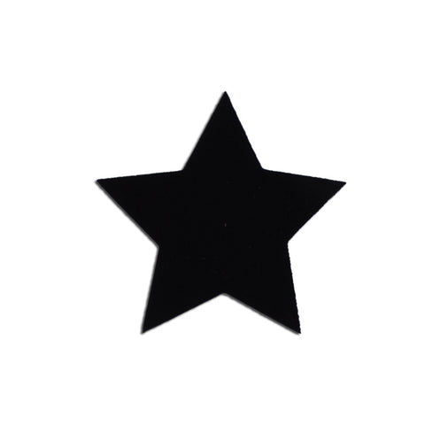Velvet Large star sticker - Black