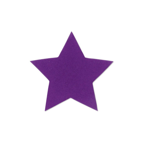 Velvet Large star sticker - Purple
