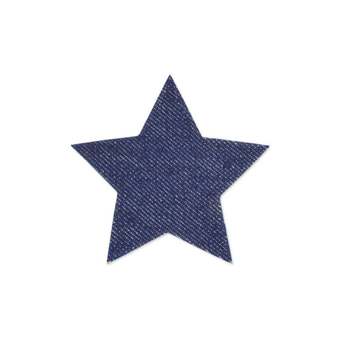 Large Star Sticker Patches - Denim - 2 pack