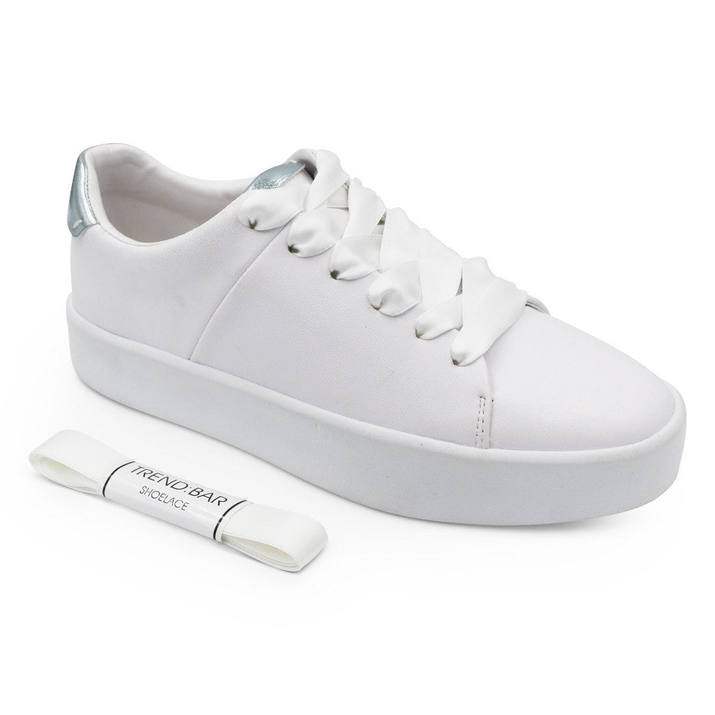 Satin Shoelace-White