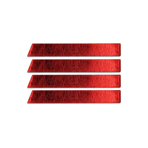 Skinny Stripe Stickers- Red Metallic  (Includes 8 Stickers)