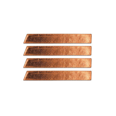 Leather Skinny Stripe Sticker  -  Copper