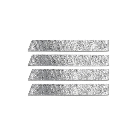 Skinny Stripe Sticker - Metallic Silver  (Includes 8 Stickers)