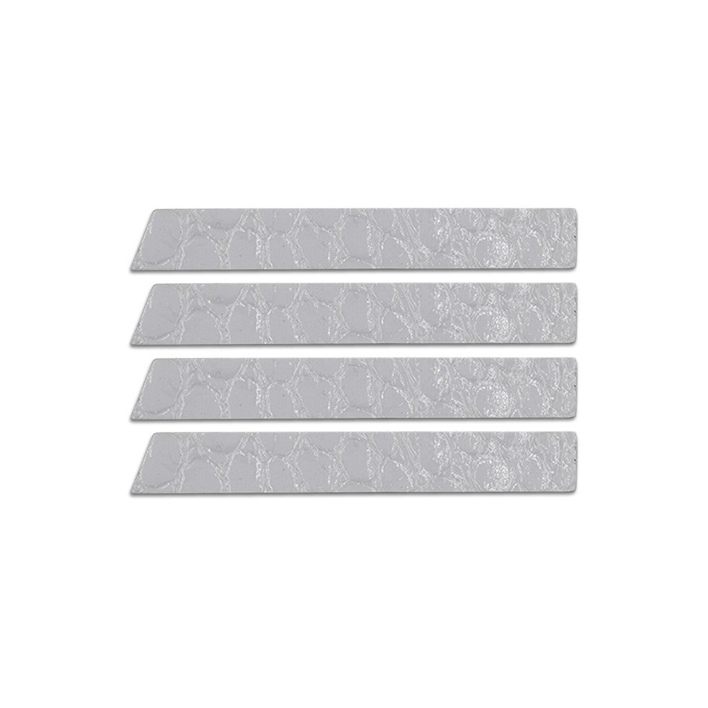 Skinny Stripe Sticker - White Embossed  (Includes 8 Stickers)