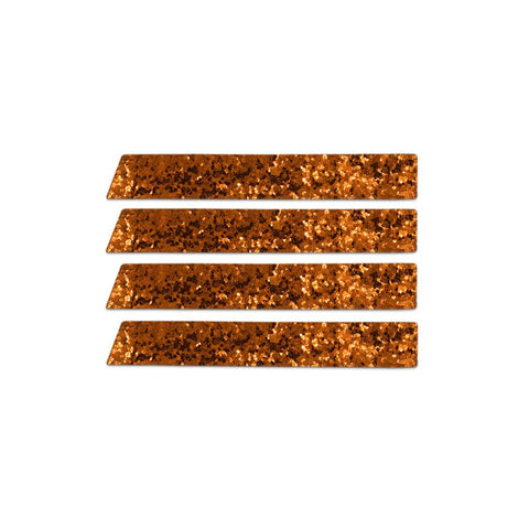 Skinny Stripe Sticker  - Copper Glitter   (Includes 8 Stickers)