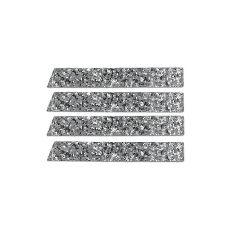 Skinny Stripe Sticker - Silver Glitter  (Includes 8 Stickers)