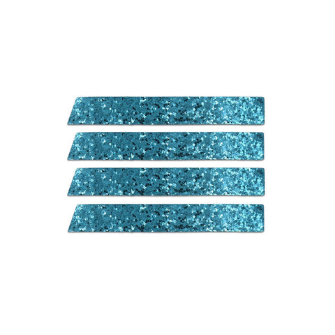 Skinny Stripe Sticker - Blue Glitter  (Includes 8 Stickers)