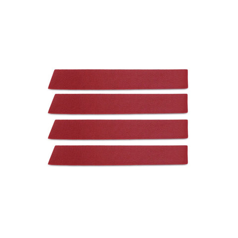 Leather Skinny Stripe Sticker - Red  (Includes 8 Stickers)