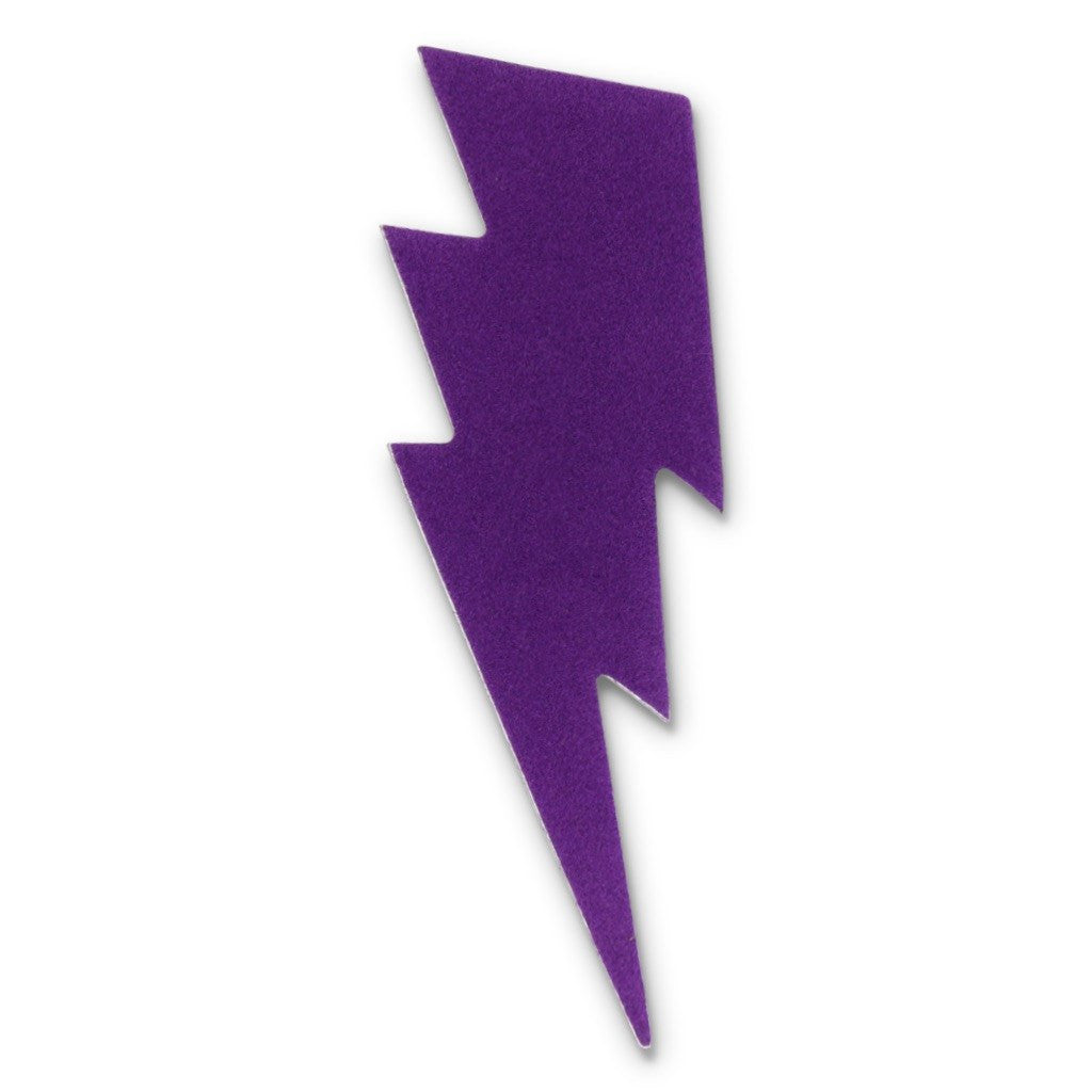 Large Bolt Sticker - Purple Velvet