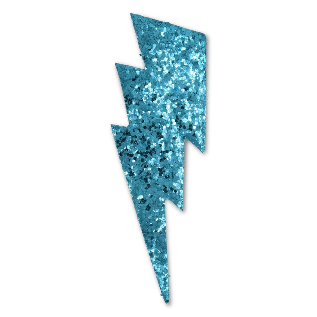 Glitter Large Bolt Sticker (Turquoise)