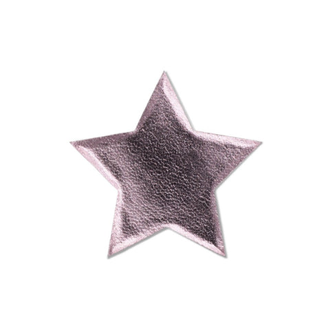 Large Star Sticker Patches - Pink Vegan Leather - 2 Pack