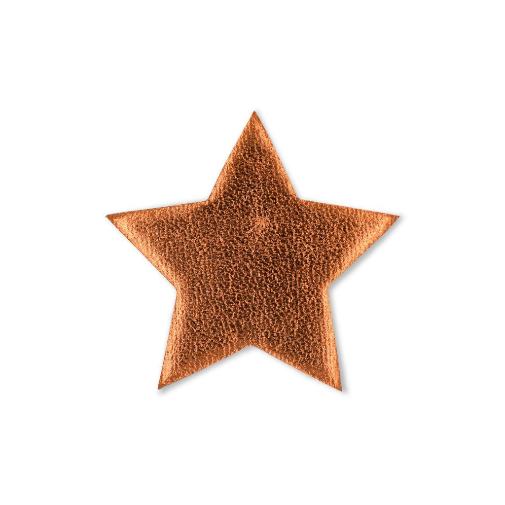 Large Star Sticker Patches - Copper Vegan Leather - 2 Pack