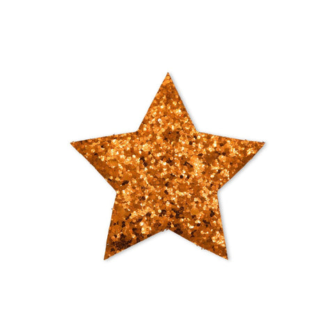 Large Star Sticker Patch - Copper Glitter - 2 pack