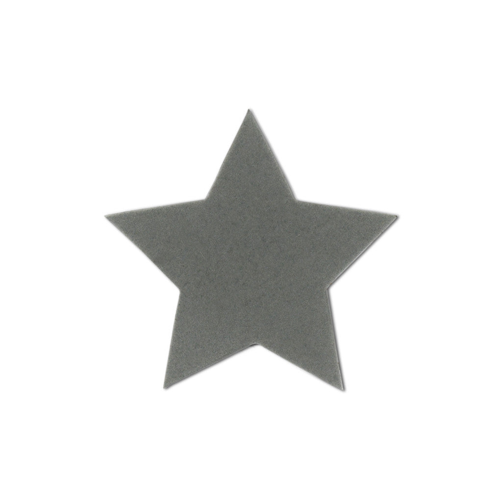 Velvet Large star stickers - Smoke