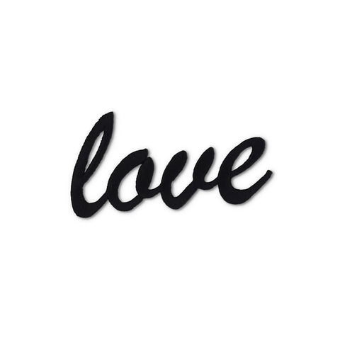 Love Embroidered Patch -Black