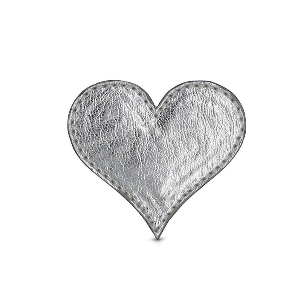 Heart Shoe Cover - Silver