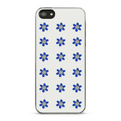 Embroidered Flower Sticker - Blue