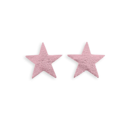 Metallic Pink Star Stickers - 2 Pack