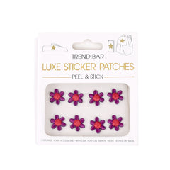 Embroidered Flower Sticker - Purple