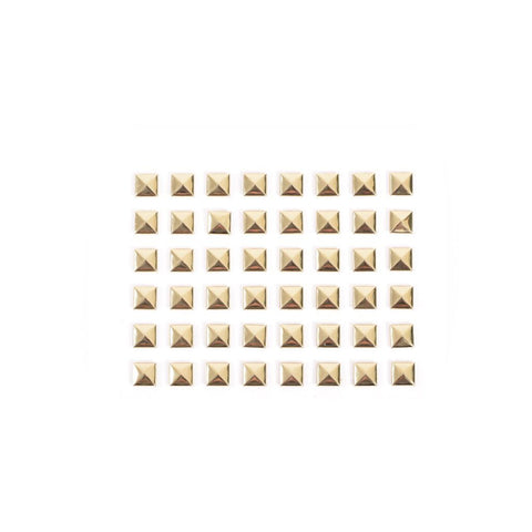 Pyramid Stud Stickers - Gold