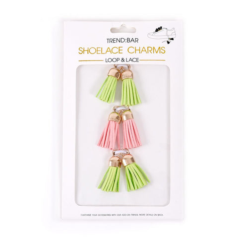 Tassel Pack - Pink/Lime