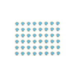 Round Stud Stickers - Turquoise/Gold
