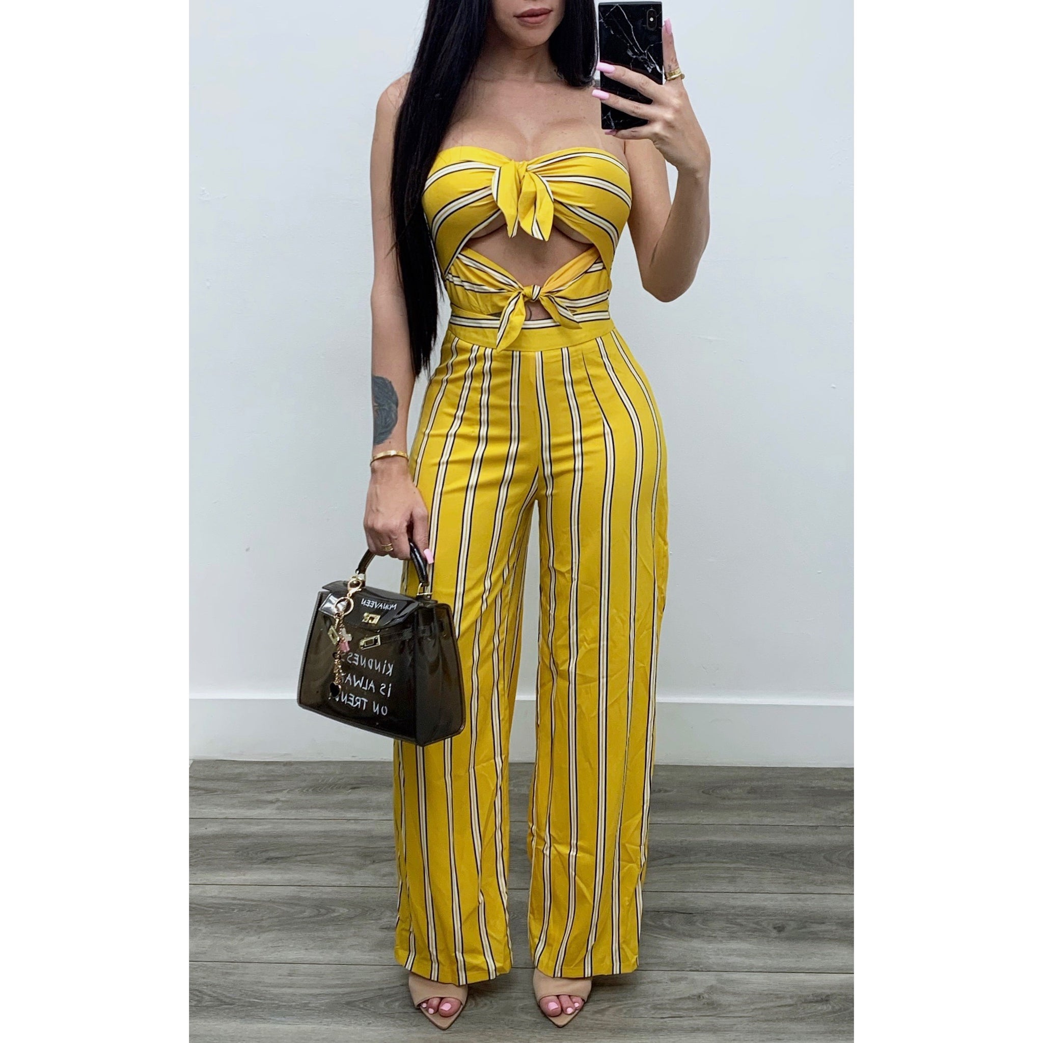 Celine Stripes Jumpsuit