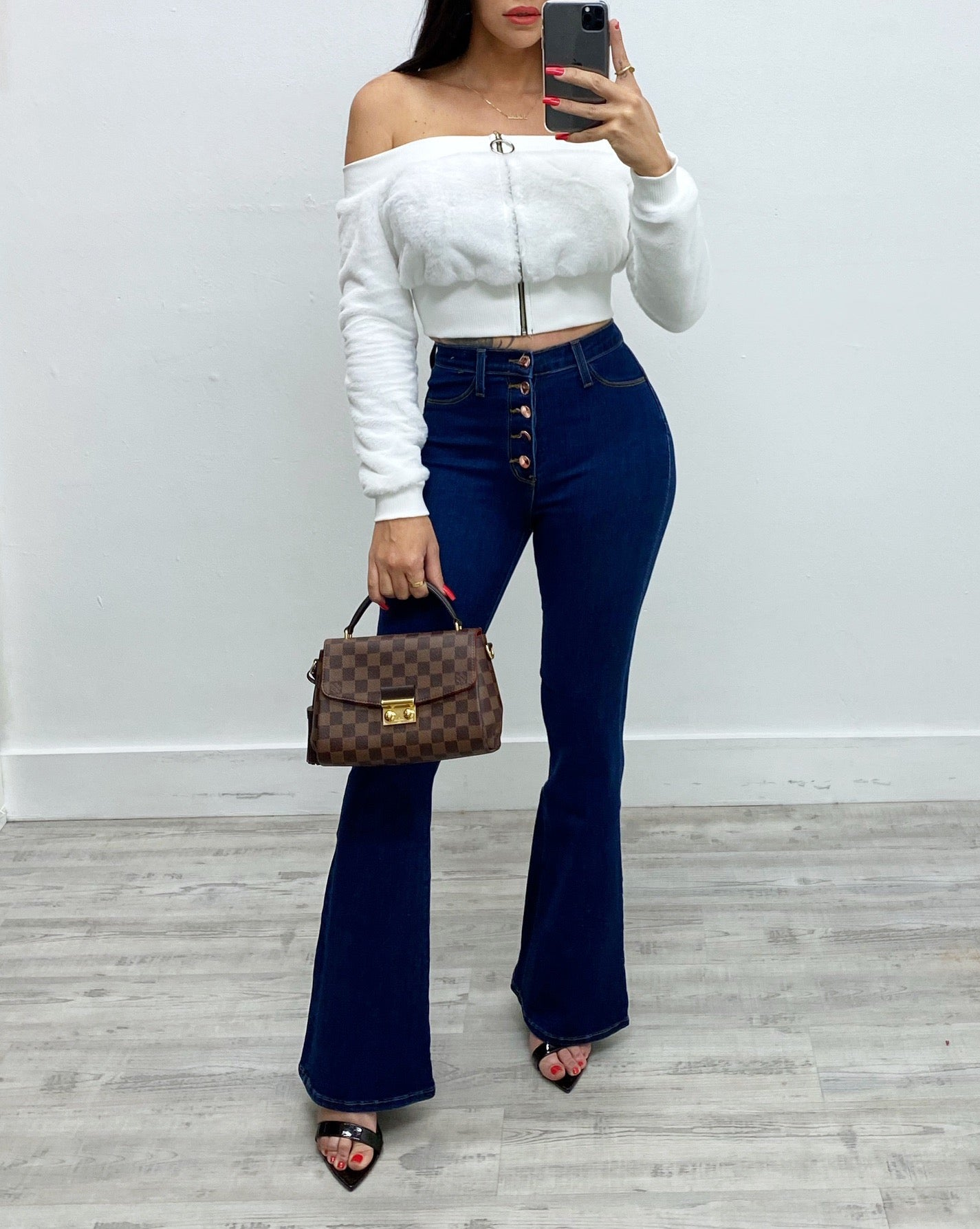Valentina High Rise Flare Jeans