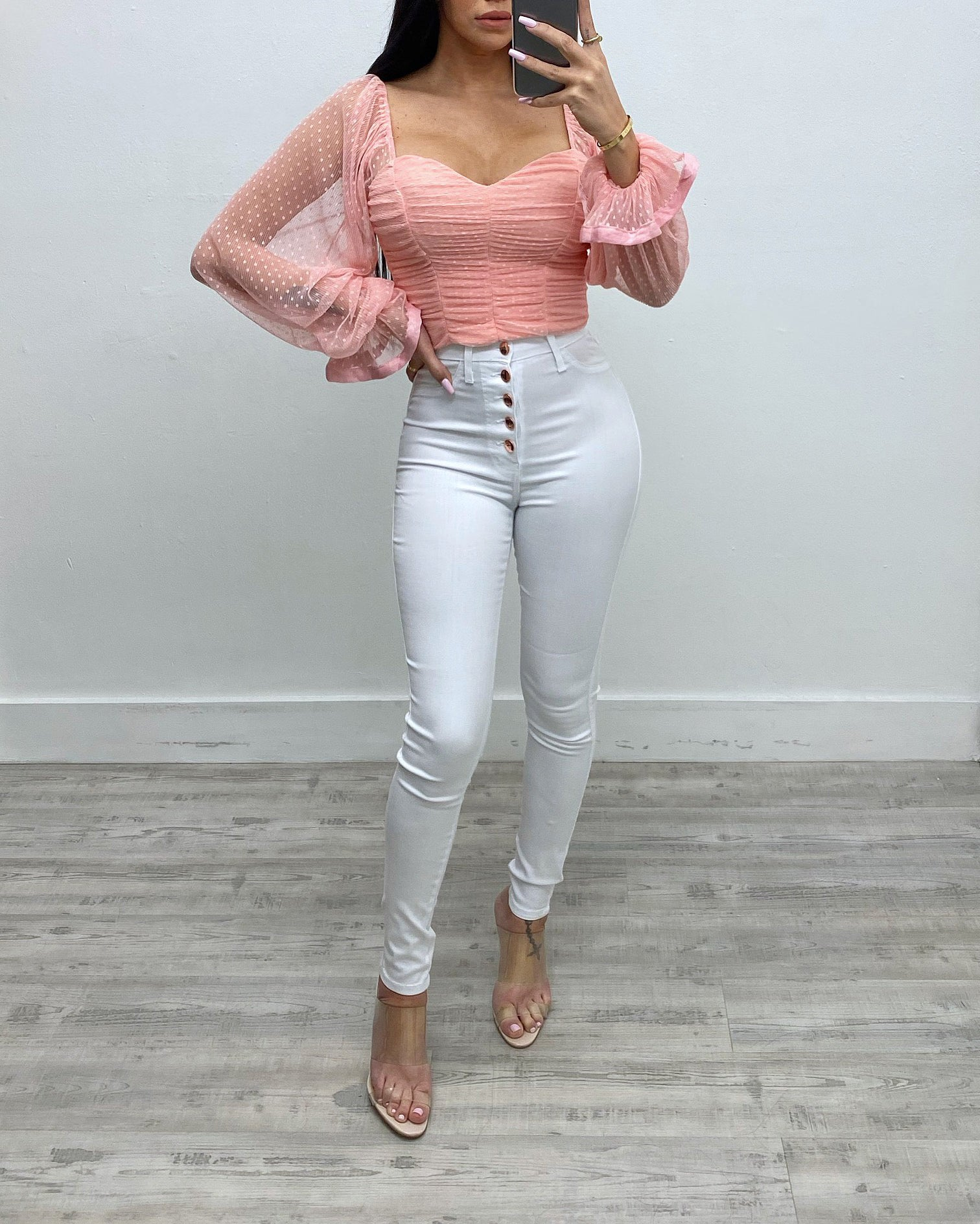 Ariadna Pastel Off The Shoulder Top