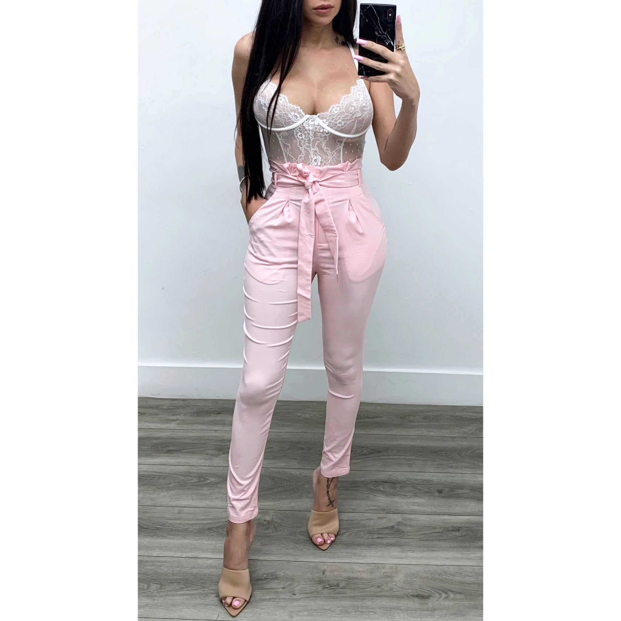 Pink Hight Waisted Pants