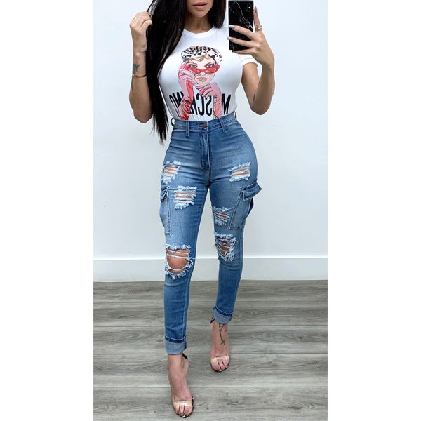 Side Pocket Skinny Jeans