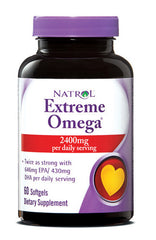 Natrol® Extreme Omega 2400 mg 60 Softgels - Vitamin Hot Spot