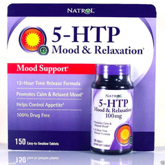Natrol® 5-HTP 100mg 150 Time Release Tablets Time Release | Mood Enhancer & Relaxation - Vitamin Hot Spot