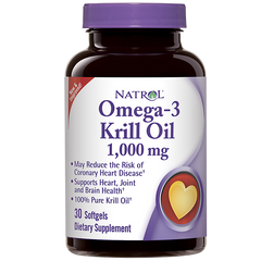 Natrol® Omega-3 Krill Oil 30 Softgels | Sizes Available: 1,000mg  or 500mg - Vitamin Hot Spot